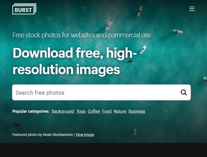 burst site fotos