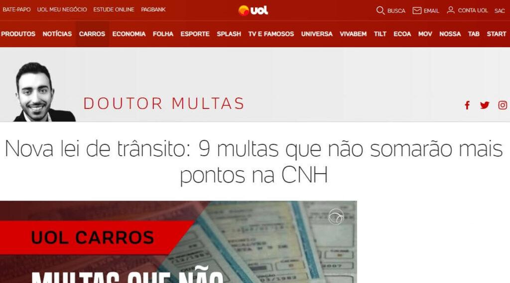 Doutor Multas UOL | O que é um blog