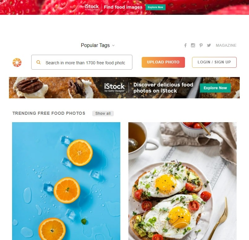 foodiesfeed site imagens grátis