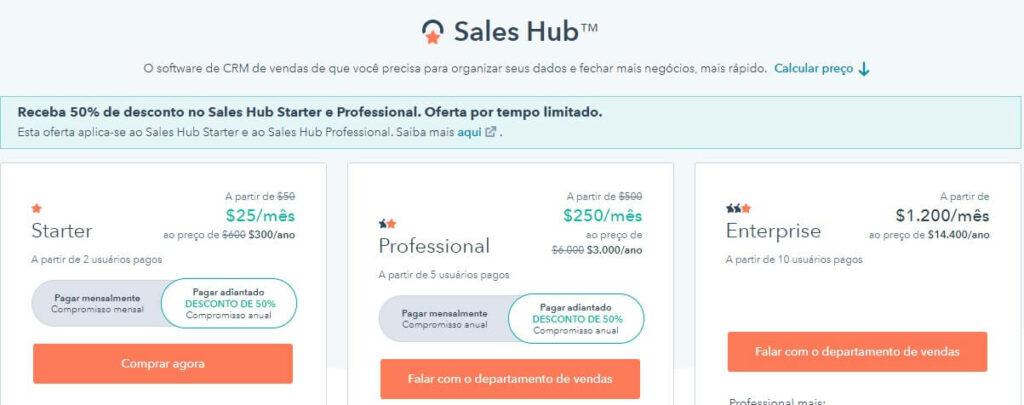 Preços HubSpot