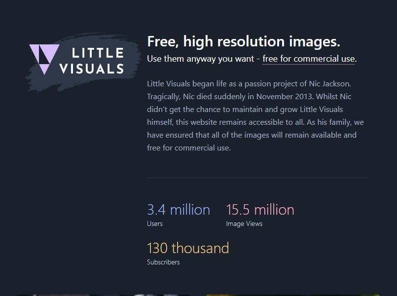 LittleVisuals site imagens grátis