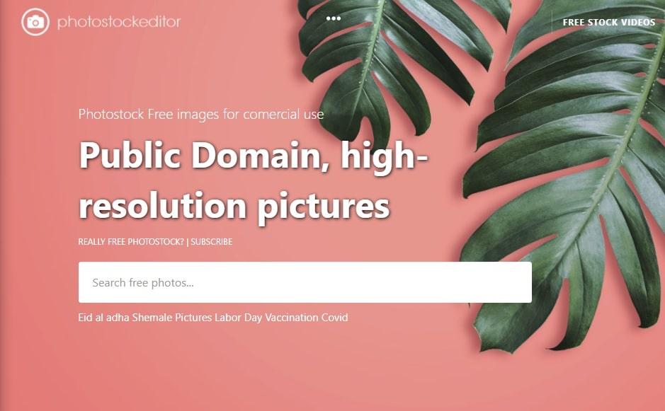 PhotoStockEditor site imagens grátis