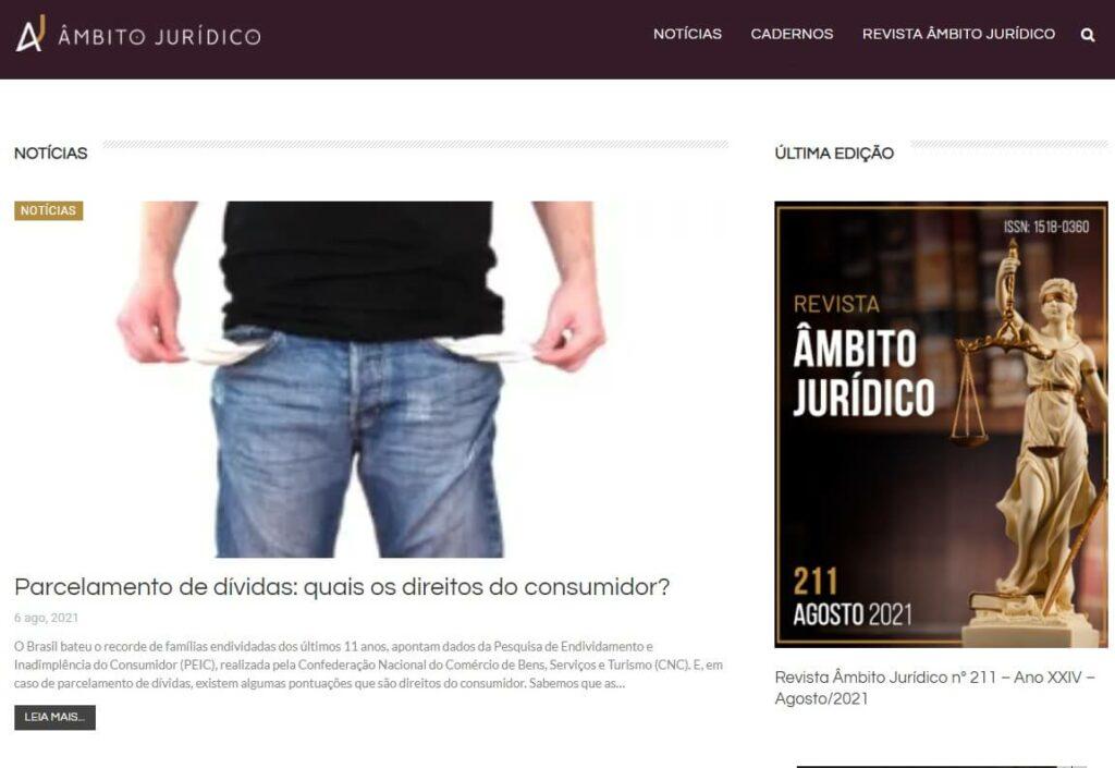 Portal Âmbito Jurídico | O que é um blog