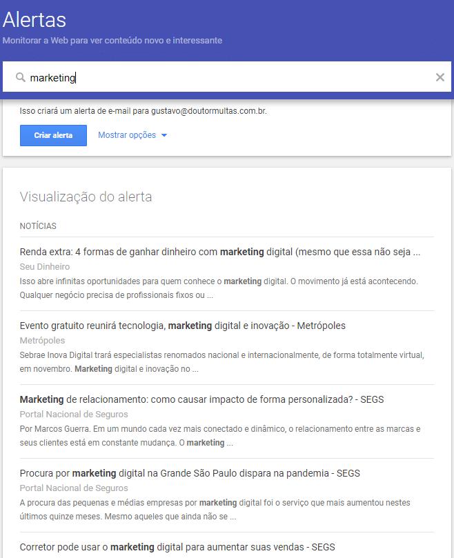 Como Configurar o Google Alerts em apenas 3 passos