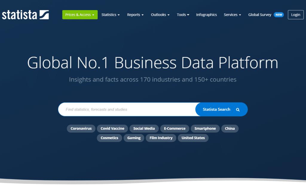 Statista | Pesquisa de mercado: 5 melhores ferramentas