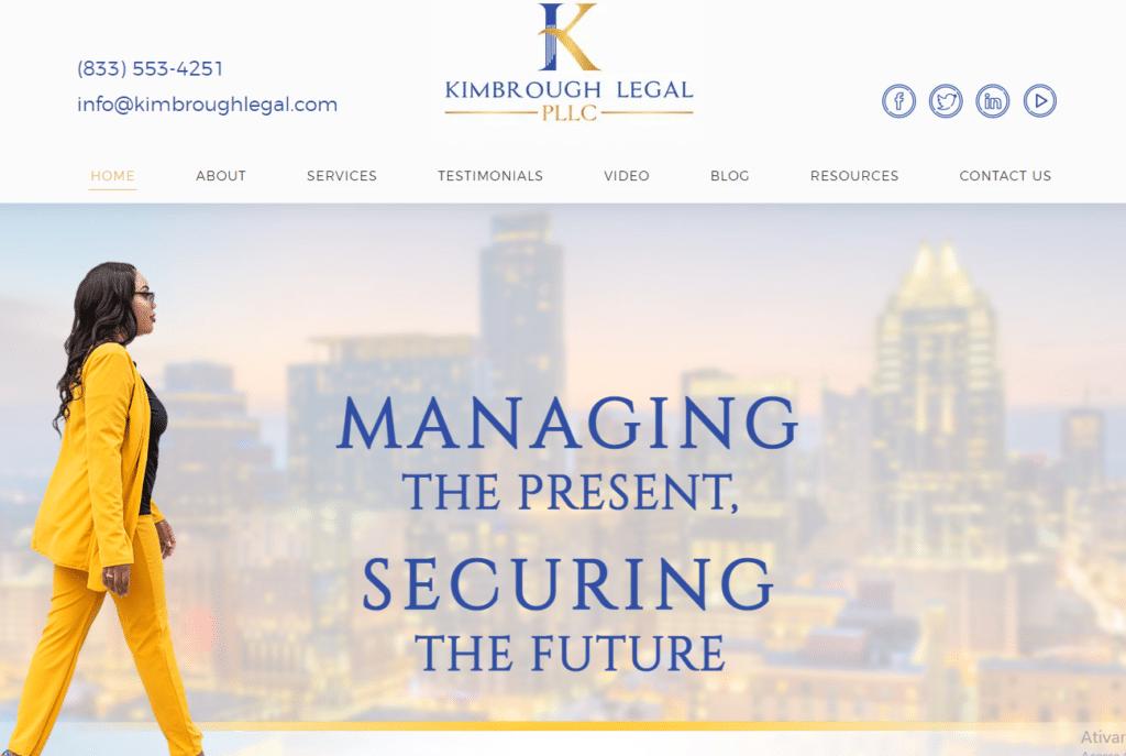 Kimbrough Legal | Sites para advogados