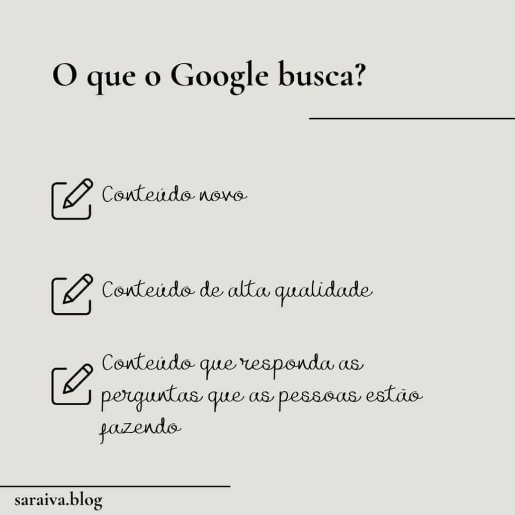 O que o Google busca | 10 estratégias de SEO