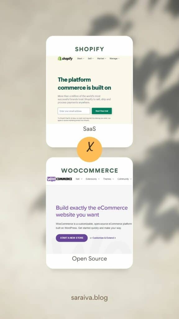 Saas x Open Source   Shopify ou WooCommerce?